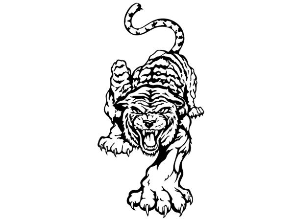 Nacktes Bild Tiger Frau Holz