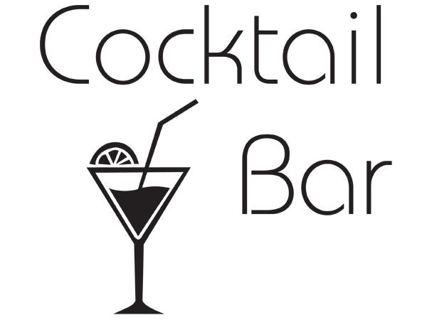 wandtattoo wandaufkleber cocktail bar bestellen bei aufkleber. Black Bedroom Furniture Sets. Home Design Ideas