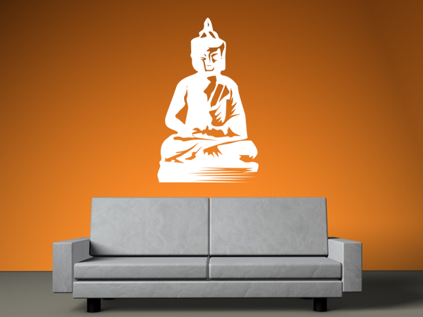 wandtattoo wandaufkleber buddha bestellen bei aufkleber. Black Bedroom Furniture Sets. Home Design Ideas