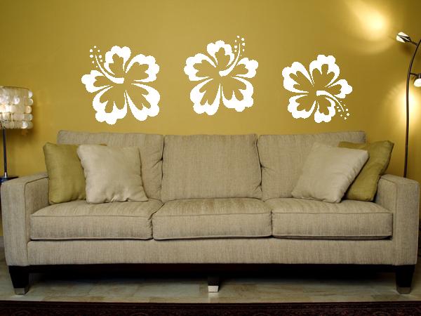 wandtattoo wandaufkleber hibiskus bl te bestellen bei. Black Bedroom Furniture Sets. Home Design Ideas
