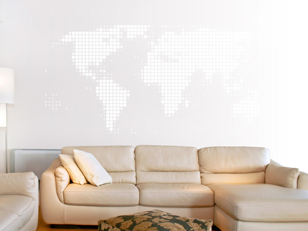 wandtattoo wandaufkleber weltkarte abstrakt bestellen. Black Bedroom Furniture Sets. Home Design Ideas