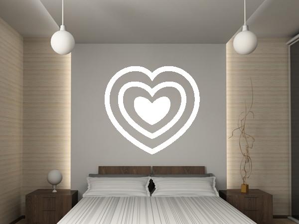 wandtattoo wandaufkleber herz 2 bestellen bei aufkleber. Black Bedroom Furniture Sets. Home Design Ideas