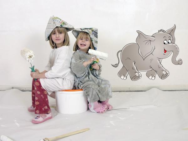 Wandsticker wandaufkleber elefant bestellen bei aufkleber - Wandsticker elefant ...