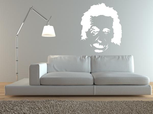 wandtattoo wandaufkleber albert einstein bestellen bei. Black Bedroom Furniture Sets. Home Design Ideas