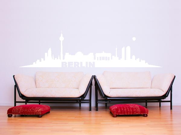 wandtattoo skyline berlin bestellen bei aufkleber. Black Bedroom Furniture Sets. Home Design Ideas